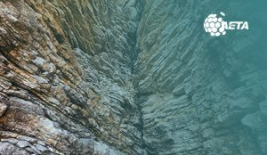 earth crack in the mountain